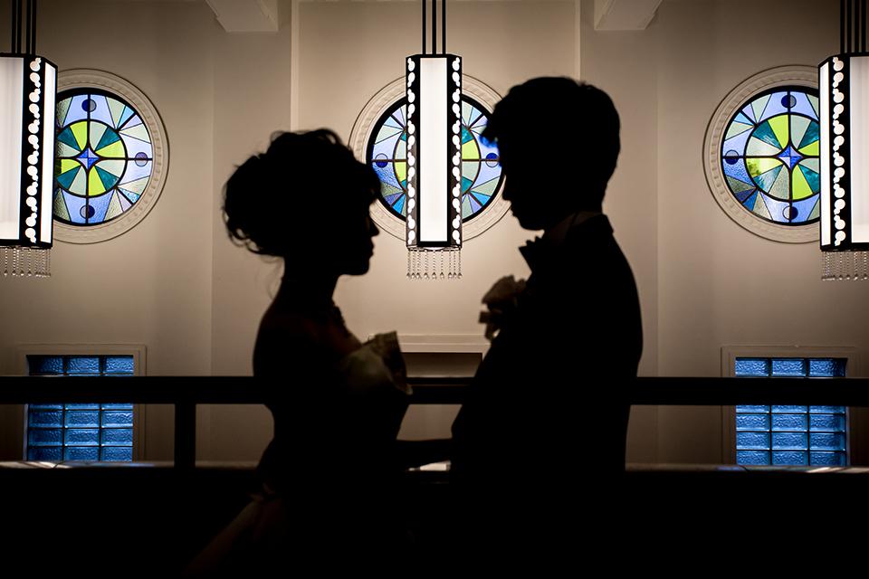 シルエットの花嫁と花婿7